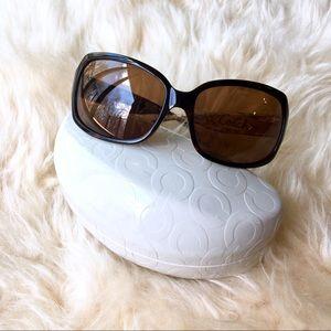 Coach Ginger Tortoise Sunglasses & Signature Case
